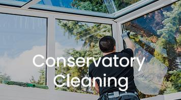 Shine window washer cleaning conservatory windows