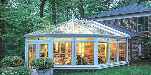 Clean conservatory windows.